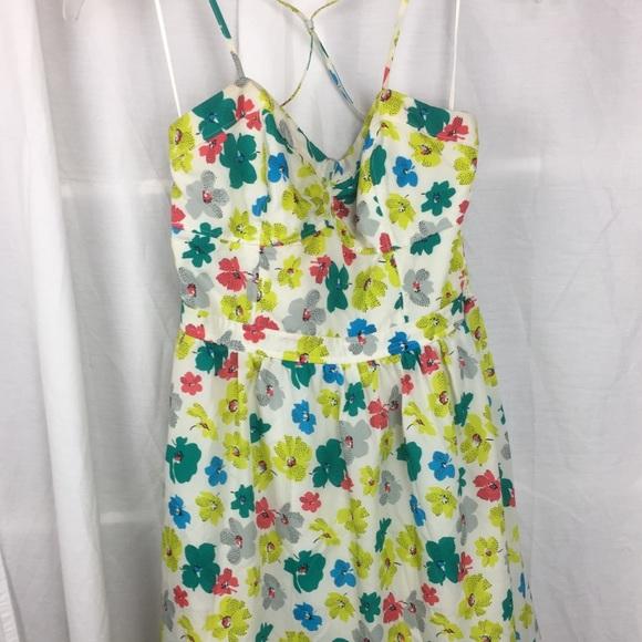 American Eagle Outfitters Dresses & Skirts - AEO Floral Mini crisscross-spaghetti strap back